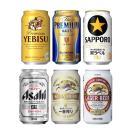 プレミアムビール&ビール 6種類 350ml飲み比べセット (1ケース/24本入り)