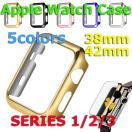 タイムセール メッキ仕上げ Apple Watch SERIES 1 2 軽量 耐衝撃 保護ケース 38mm 42mm ポリカーボネット 保護カバー アップルウォッチ2 カバー 弧状設計