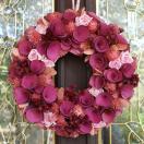 ナチュラルリース -ピンクローズモケ- 33cm (リース 花 バラ 玄関 おしゃれ 春 インテリア 壁掛)