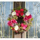 ナチュラルリース Sサイズ -ブルーベリーローズ- 24cm (リース 花 バラ 玄関 おしゃれ 春 インテリア 壁掛)