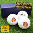 ギフト 名入れ 即日出荷可能 ゴルフボール 3個セット タイトリスト Titleist  記念品 ゴルフコンペ  父の日 退職祝 誕生日 敬老の日