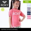 ROXY/ロキシーキッズ半袖ラッシュガード水着みずぎ紫外線対策UVカットTシャツタイプかぶりかわいいTLY181103