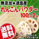 セール お試し れんこんパウダー レンコ ン粉末 パウダー 国産 無添加 徳 島県産 100g×2袋 送料無料