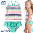 18新作カーターズCarter's水着女の子タンキニスカート付きボーダーキッズ子供用2T3T4T5T67