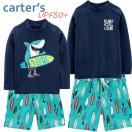 18新作カーターズCarter's水着ラッシュガード長袖スイムトランクス男の子サーフィンキッズ子供用2T3T4T5T678才