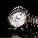 インヴィクタ 腕時計 Invicta Reserve Excursion クォーツ クロノグラフ シルバー テクスチャード ダイヤル SS メンズ 腕時計