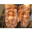 海外セレクション 手袋 ミトン ブローブreal ブラウン Mink Fur MIttens