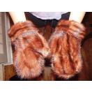 海外セレクション 手袋 ミトン ブローブReal China  Mink Fur グローブ Mittens Very Nice