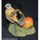 海外セレクション 動物 Border Fine Arts - ブルー Tit On Branch フィギュア 人形 ドール RB13 Hand Made In Scotland