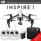 カメラ&写真カメラドローン ディージェイアイ *** DJI INSPIRE 1 V2.0 V2 Drone 4K HD カメラ, 2x Remotes