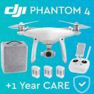 カメラ&写真カメラドローン ディージェイアイ DJI PHANTOM 4 DRONE 4K カメラ. 2 EXTRA BATTERIES + DJI CARE 1-Year