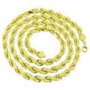 ジュエリー 腕時計ネックレス マスターオブブリング 10K イエロー ゴールド ネックレス 7 mm Solid Rope Chain デザイナー Lobster Lock メンズ 30