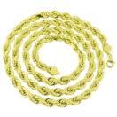 ジュエリー 腕時計ネックレス マスターオブブリング 7mm Solid Rope Link Chain ネックレス 32 Inch メンズ Real 10K イエロー ゴールド On Sale