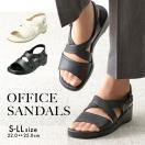 オフィスサンダル サンダル レディース 黒 白 履きやすい 大きいサイズ ナースサンダル 靴 パンジー pansy BB5302