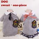◆均一セール SALE 特価品◆犬 服 犬服 小型犬 チェック 重ね着風 トレーナー スカート付き ドッグウエア XS S M L ペアルック