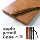 apple pencil case アップル ペンシル ケース ペンホルダー 蓋付 カバー iPad Pro 12.9 10.5 9.7 本革 レザー ホルダー 紛失防止 タッチペン スタイラス