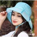 日よけ帽子 つば広帽 つば広ハット ネックガード メッシュ 顎ひも付き 首筋ガード 折りたためる レディース 帽子 紫外線対策 UVカット ガーデニン