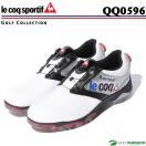 ルコックゴルフ ゴルフシューズ メンズ QQ0596 ホワイト×シルバー×ブラック(XN40)ヒールダイヤル式WLS le coq sportif 靴 即納