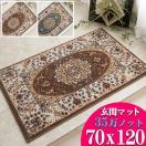 玄関マット 室内 屋内 70x120 ペルシャ絨毯 柄 ウィルトン織 おしゃれ トルコ製 高密度 マット