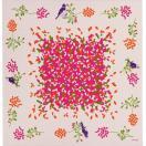 綿大判風呂敷(ふろしき)-chirping-さえずり(ピンク) 【echino】三巾(118cm幅) 手拭い 母の日 父の日 プレゼント
