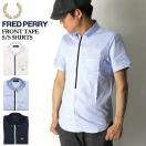 (フレッドペリー)FREDPERRYフロントテープショートスリーブシャツボタンダウンシャツ半袖シャツメンズレディース