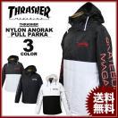 スラッシャー THRASHER MAG NYLON ANORAK PULLOVER PARKA アノラック プルオーバー ナイロン パーカ パーカー ブラック 黒 ホワイト 白 メンズ レディース