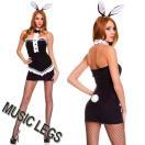 在庫処分SALE!MusicLegs(ミュージックレッグ)タキシードバニーガールコスチューム2点セット 70504 M/Lサイズ コスプレ衣装 マジシャン レディース コスプレ