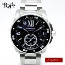 カルティエ Cartier メンズ時計 カリブルダイバー W7100057 ステンレス 黒文字盤 中古 【新着】