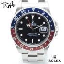 ロレックス ROLEX メンズ時計 GMTマスター 16700 ステンレス 黒文字盤 中古