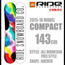 2015-16 RIDE ライド COMPACT 143 スノーボード