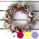 選べる春色リース ミディアム(ドライフラワー)/お花の壁飾り フラワーギフト