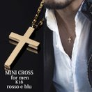 ネックレス メンズ 金 18K ゴールド 十字架 クロス チェーン 18金 シンプル