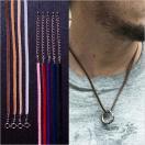 ネックレス メンズ 革紐 チョーカー 本革 革ひも 指輪 ネックレス レザー