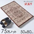 玄関マット 室内 ラグマット ウィルトン織 ペルシャ絨毯 柄 50x80