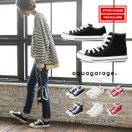 スニーカー 靴 キャンバス ローカット or ハイカット ブラック ホワイト ネイビー レディース 秋冬 送料無料