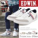 EDWIN エドウィン カジュアル スニーカー メンズ 白 ローカット レッド 通学シューズ 靴 レースアップ 紳士 父の日 プレゼント ED-7021