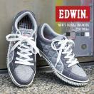 EDWIN 軽量 ローカットスニーカー メンズ キルティング カジュアルシューズ 通学シューズ 靴 レースアップ 紳士 父の日 プレゼント ED-7533