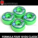 スピットファイヤー フォーミュラーフォー クラシック 【SPITFIRE FORMULA FOUR 101DU CLASSIC】 スケート ウィール F4 カラー:Gang Green