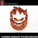 スピットファイヤー チャードリメインズ ステッカー ミディアム 【SPITFIRE CHARRED REMAINS STICKER MEDIUM】 スケートボード ロゴ デッキ サイズ:16cm×11.5cm