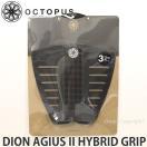オクトパス ディオン アジウス 2 ハイブリット グリップ 【OCTOPUS DION AGIUS II HYBRID GRIP】 サーフィン デッキ パッド エアー トラクション サイズ:12x12