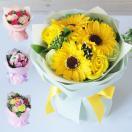 ソープフラワー花束 ブーケ バラ カーネー...