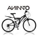【ANIMATOアニマート】 マウンテンバイク SANDPIPER Wサス 26インチ SHIMANO18段変速 送料無料