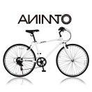 【ANIMATOアニマート】 クロスバイク SURFY(サーフィー) シマノ7段変速 26インチ おしゃれ 街乗り スタイリッシュ 送料無料