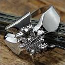 指輪 リング メンズ アクセサリー 銀 シルバー クロス