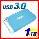 外付けHDD 1TB ポータブル ハードディスク HDD Transcend StoreJet 25M3 外付けハードディスク TS1TSJ25M3B USB3.0対応 LEDインジケーター付き 3年保証(即納)