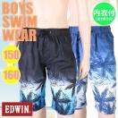 (パケット便送料無料)EDWIN(エドウィン)男子・椰子グラデーションサーフパンツ(ジュニア/ボーイズ水着)768353