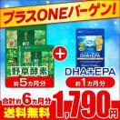 プラスONEセール★ 野草酵素 約5ヵ月分 DHA+EPA 約1ヶ月分