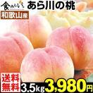 桃 【お買得】和歌山産 あら川の桃   3.5kg 1箱 送料無料