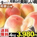 桃 和歌山産 和歌山の美味しい桃 4kg 1箱 送料無料 ご家庭用
