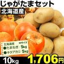 北海道産 じゃがたまセット 2種約10kg1組 じゃが芋 玉ねぎ キタアカリ 食品